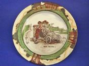 Royal Doulton Early Motoring 'Room For One' Rack Plate D2406 c1907